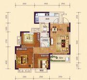恒大御府3室2厅1卫92平方米户型图