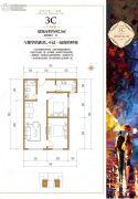 五龙湾・府东天地2室2厅1卫82平方米户型图