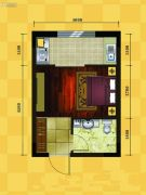 十三街区1室0厅1卫30平方米户型图