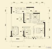 方直东岸2室2厅1卫94平方米户型图