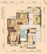 北海恒大雅苑3室2厅1卫85平方米户型图