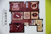 香格里拉花园3室2厅2卫125平方米户型图