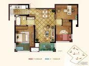 弘阳春上西江3室2厅1卫85平方米户型图