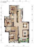 华宇观澜华府3室2厅2卫88--106平方米户型图
