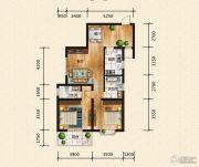 汉成华都2室2厅2卫105平方米户型图