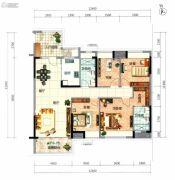 顺德华侨城・天鹅湖4室2厅2卫134平方米户型图
