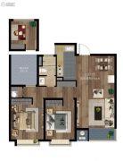 第一国际新区3室2厅1卫86平方米户型图