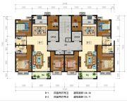 华信・越绣公园4室2厅2卫0平方米户型图