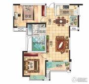 兴润・秋语台2室2厅1卫95平方米户型图