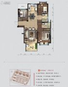 碧桂园・翘楚棠3室2厅2卫118平方米户型图