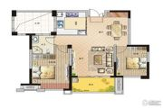 鹏欣领誉 高层2室2厅1卫90平方米户型图