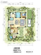 九仰爱琴海2室2厅1卫89平方米户型图