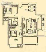 香溢花城2室2厅1卫95平方米户型图