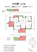 江南世家3室2厅2卫142平方米户型图