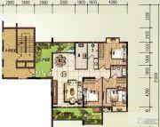 颐和山庄3室2厅2卫117平方米户型图