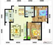 天庆国际新城2室1厅1卫93平方米户型图