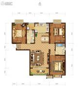 瀚唐3室2厅2卫137平方米户型图