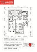 乌托邦小镇3室2厅2卫110--120平方米户型图