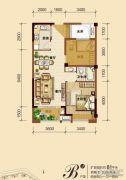 福鼎泰禾红树林2室2厅1卫66平方米户型图