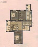 东升江郡3室1厅1卫0平方米户型图