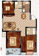 永业梦乐城3室2厅2卫118平方米户型图
