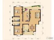 雅厦・中央山水3室2厅2卫141平方米户型图