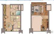 龙山大厦2室2厅1卫36平方米户型图