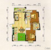 凯旋城2室2厅2卫110平方米户型图