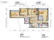 蓝光乐彩城3室2厅1卫101平方米户型图