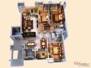 创源无想墅3室2厅2卫138平方米户型图