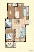 荣盛龙湖半岛3室2厅1卫89平方米户型图