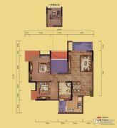融创嘉德领馆2室2厅1卫72平方米户型图