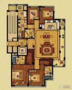 百合花园4室2厅4卫256平方米户型图