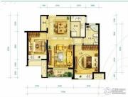 金地朗悦2室2厅1卫80平方米户型图