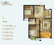 泓润新城华府2室2厅1卫83平方米户型图