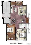 楠溪・云岚2室1厅1卫83平方米户型图