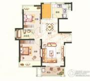 中环国际公寓三期2室2厅1卫88平方米户型图