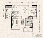 凯乐国际城2室2厅1卫91平方米户型图