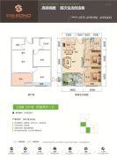 双悦SOHO2室2厅1卫59平方米户型图
