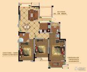 观山名筑3室2厅2卫132平方米户型图
