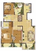 香江湾3室2厅2卫165平方米户型图