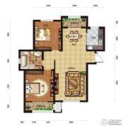 松江城玫瑰郡2室1厅1卫108平方米户型图
