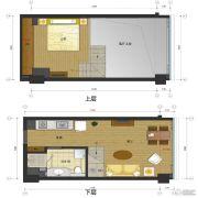 五迪中心1室1厅1卫0平方米户型图