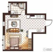 第九频道1室1厅1卫51平方米户型图