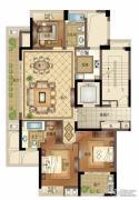 宝盈茗泓苑3室2厅2卫134平方米户型图