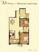 曲江千林郡2室2厅1卫81--85平方米户型图