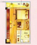 紫晶国际广场1室1厅1卫36平方米户型图