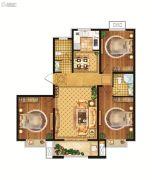 雍雅锦江3室2厅2卫115平方米户型图