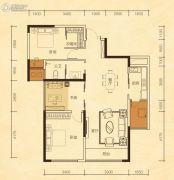 公园华府2室2厅1卫102平方米户型图