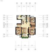 嘉亿国际3室2厅1卫113--116平方米户型图